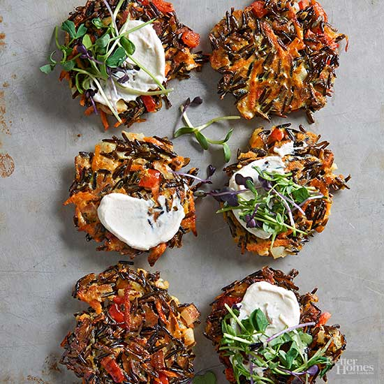 Toasted Wild Rice Griddle Cakes