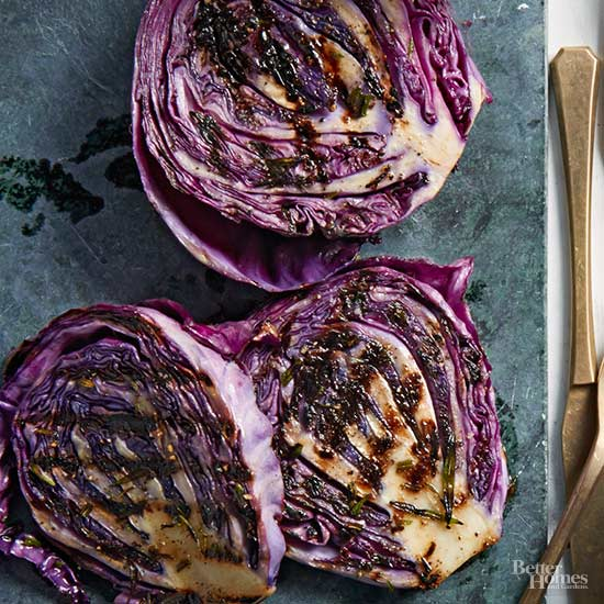 Grilled Cabbage Steaks with Chimichurri