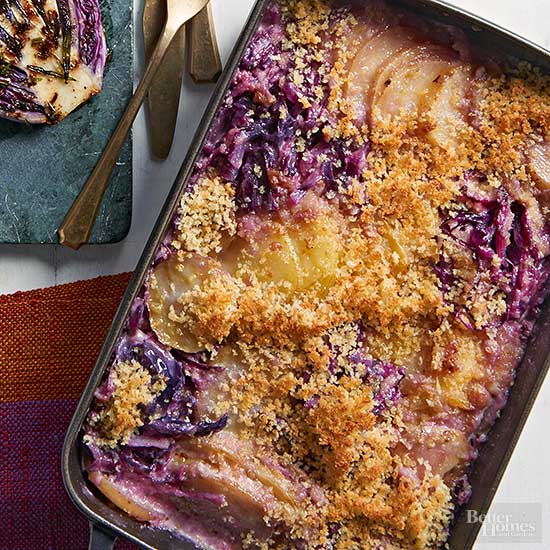 Cabbage & Potato Gratin