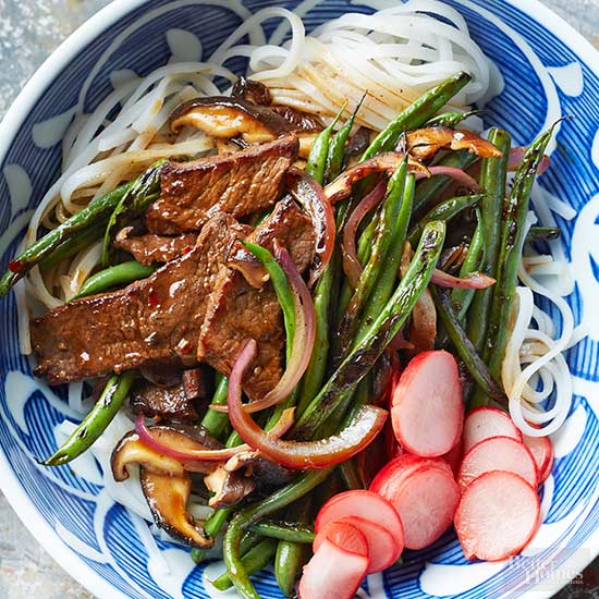 Blistered Beans and Beef Stir-Fry