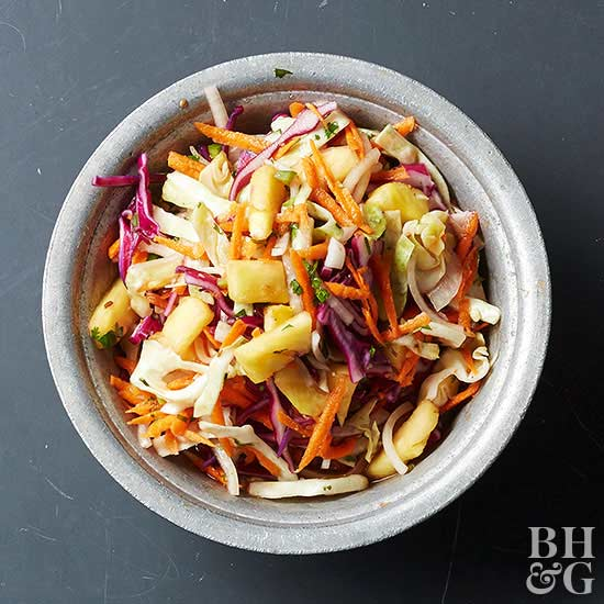 Pickled Red Cabbage and Pineapple Slaw