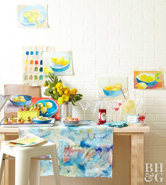 Painting Party Table Setting
