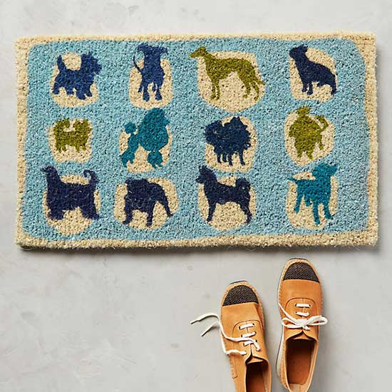 Anthropologie Noble Dog Doormat