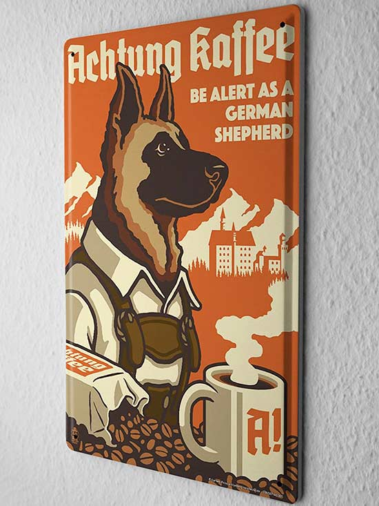 German Shepard Tin Sign