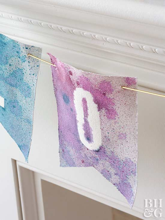 dyed fabric banner