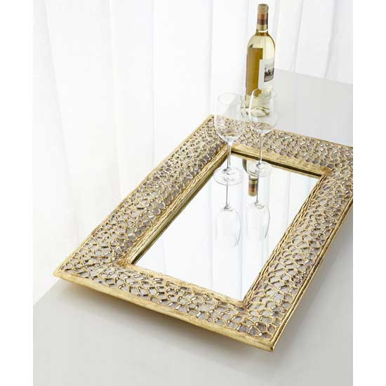 Neiman Marcus Gold Mirrored Tray