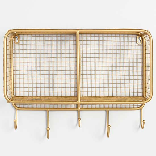 World Market Gold Wire Hanging Storage