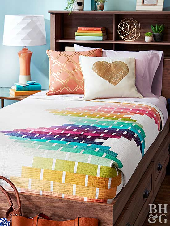 colorful bedding