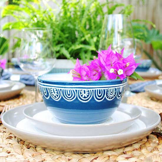 bowl and plates