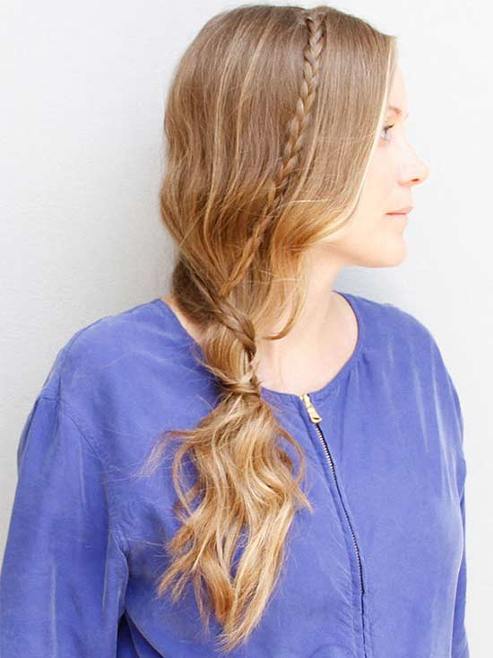 ponytail with braid tie