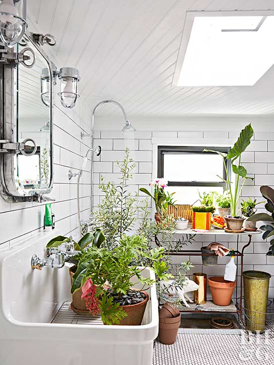 chris benz designer mudroom plants