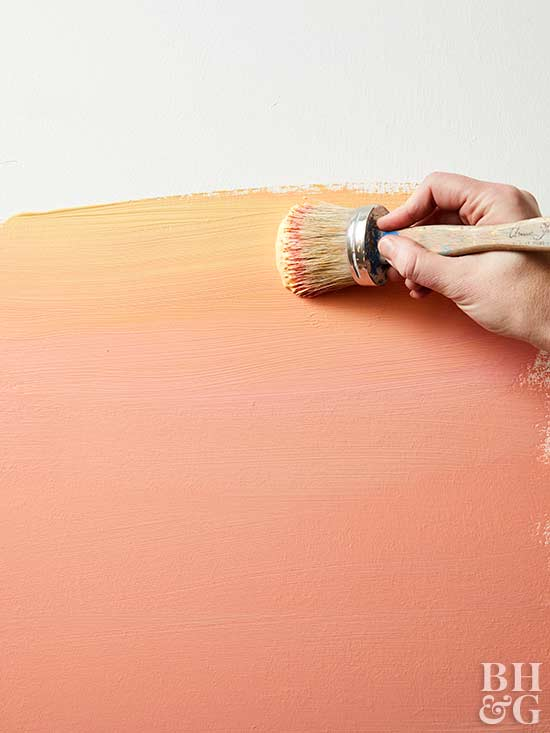 sunset wall painting step 2