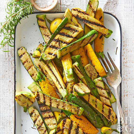 Grilled Rosemary Squash