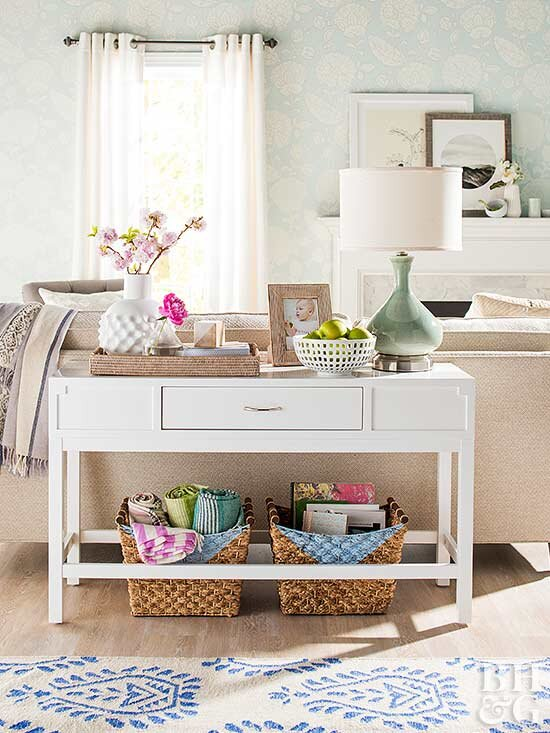 Astounding Reasons Your Living Room Needs A Sofa Table Better Homes Bralicious Painted Fabric Chair Ideas Braliciousco