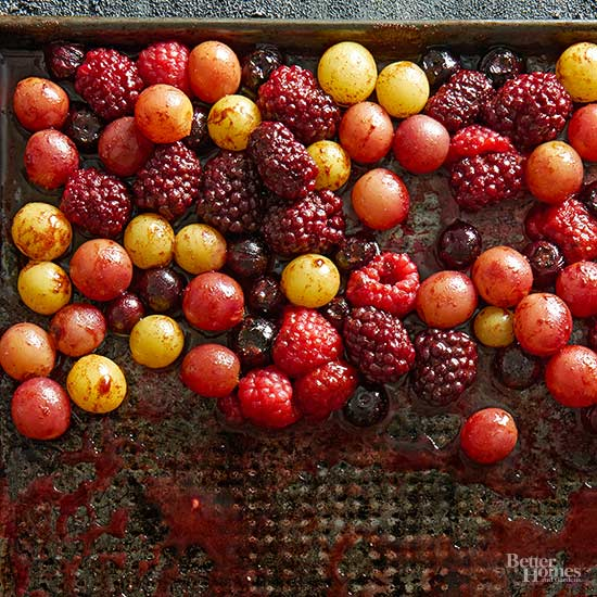 Roasted Berries and Grapes
