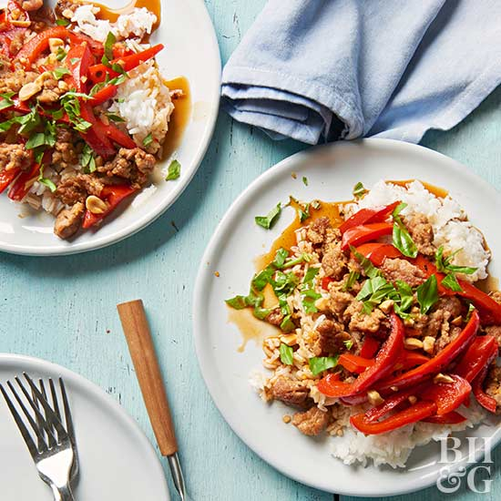 Ginger Pork with Sweet Peppers