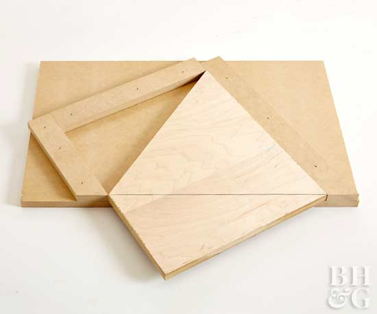 make a geometric headboard step 4
