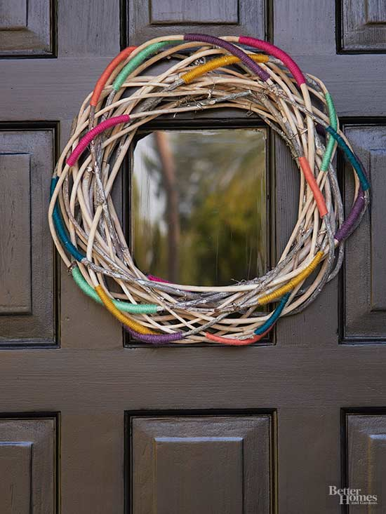 Colorful Twig Wreath