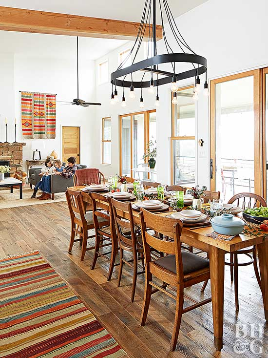 southwestern decor dining room