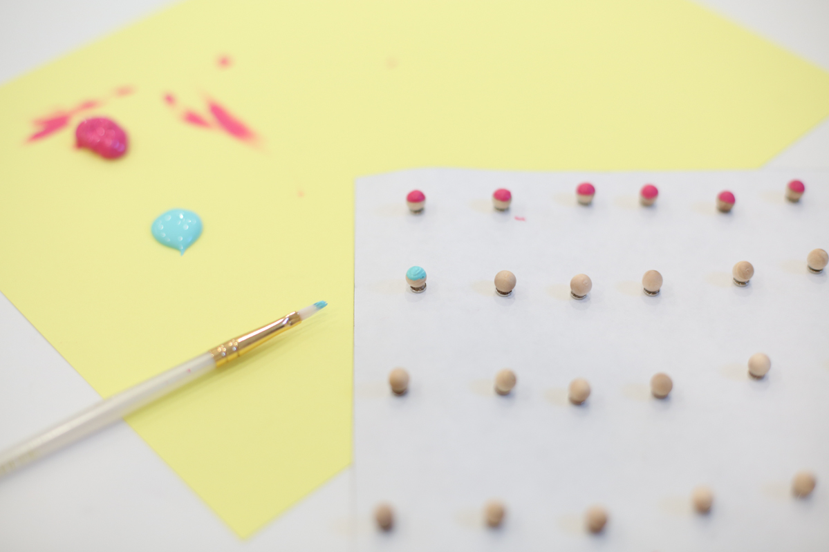 Painting wooden balls with craft paint