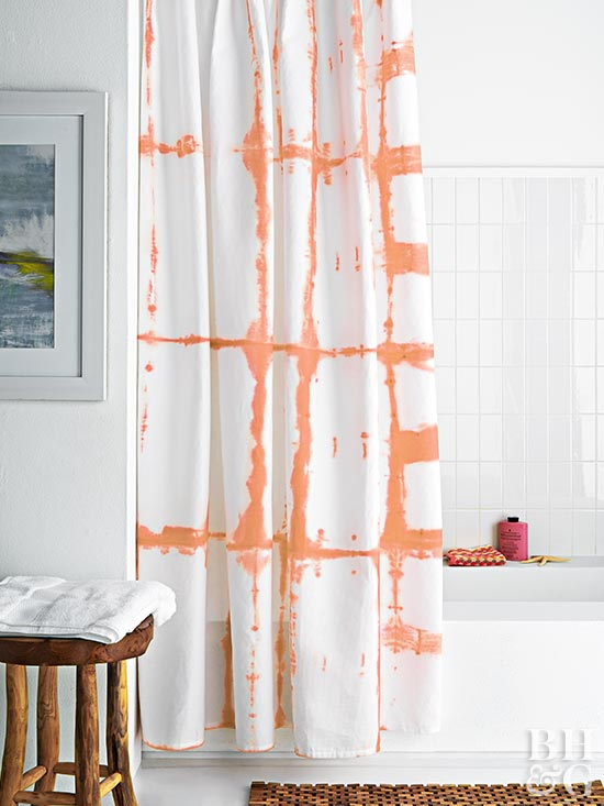 shower curtain DIY, shower curtain, tie dye