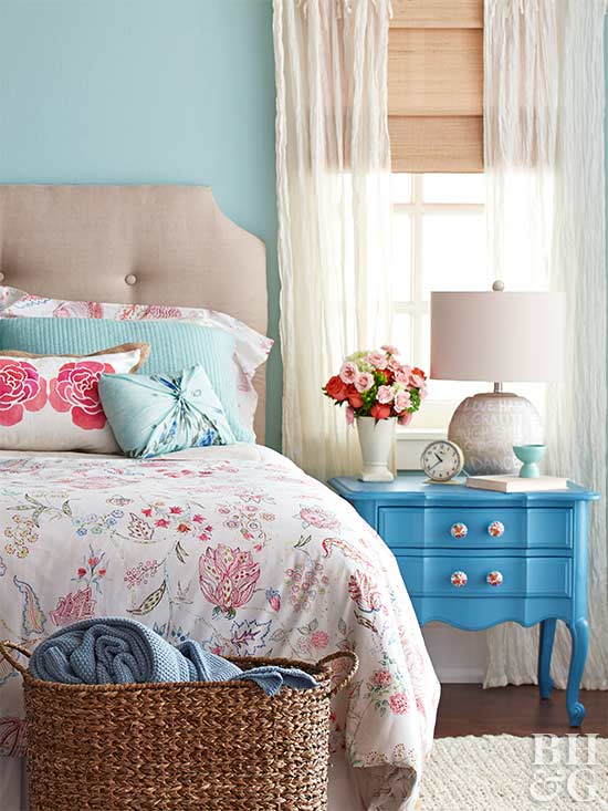 bedroom with diy projects