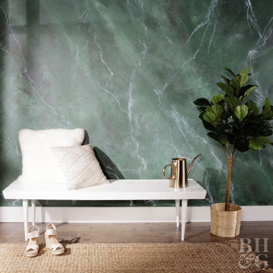 DIY Marble Wall Treatment