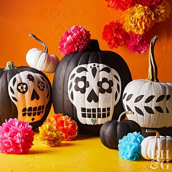 pumpkin template to paint  6 Easy Painted Pumpkin Ideas to Try This Year | Better ...