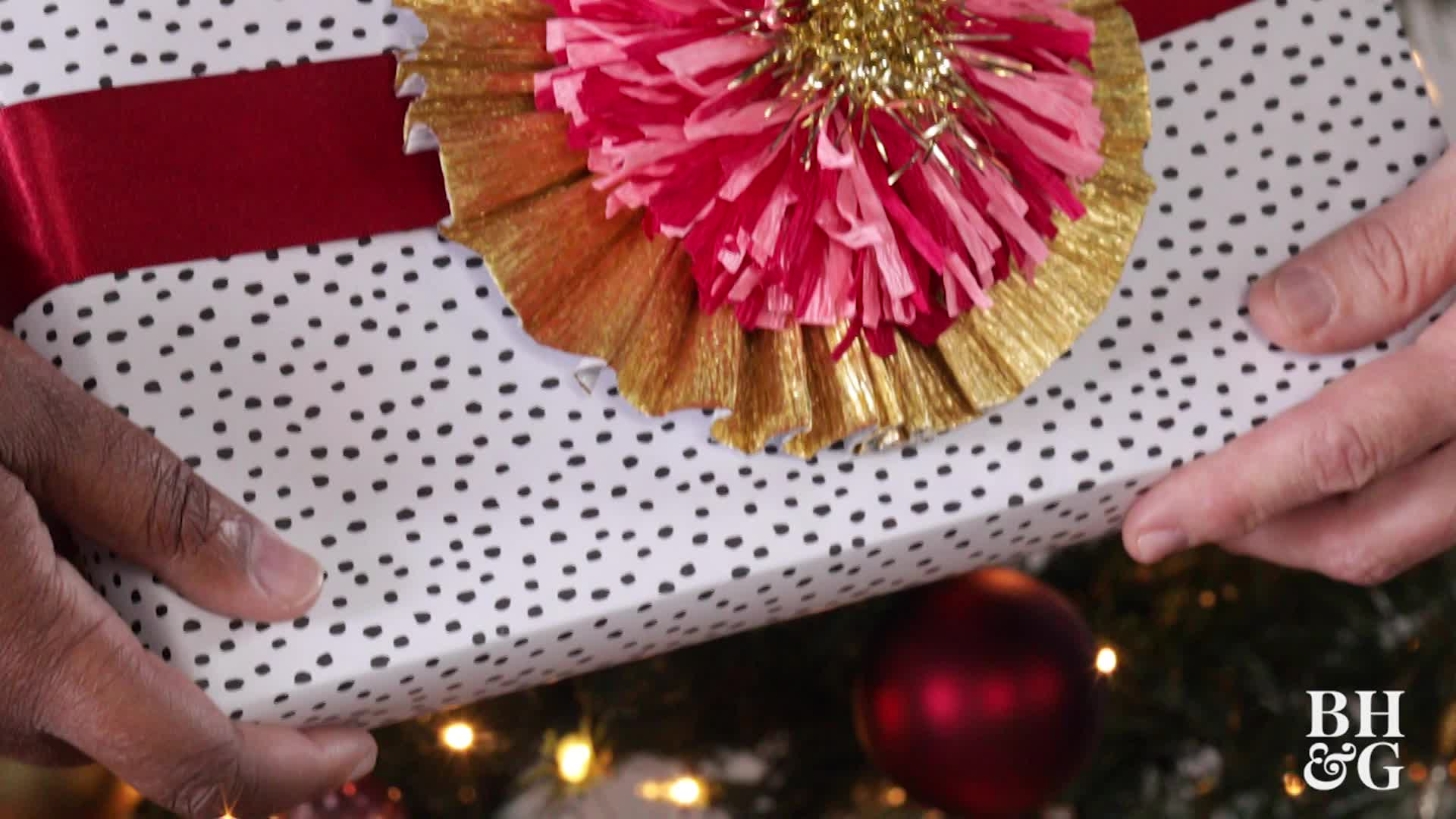 Crepe Paper Gift Topper