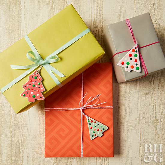 gift boxes, gifts, tree tags