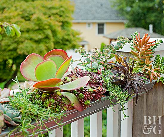 Metal Gutter Railing Planter