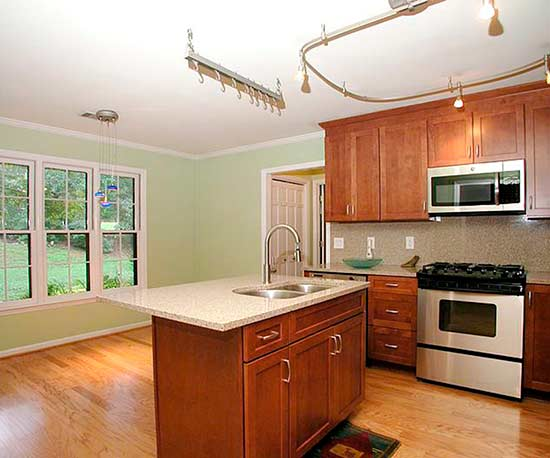 standard builder-grade kitchen