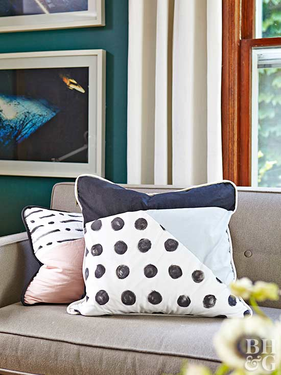 pillows, couch, furnishings