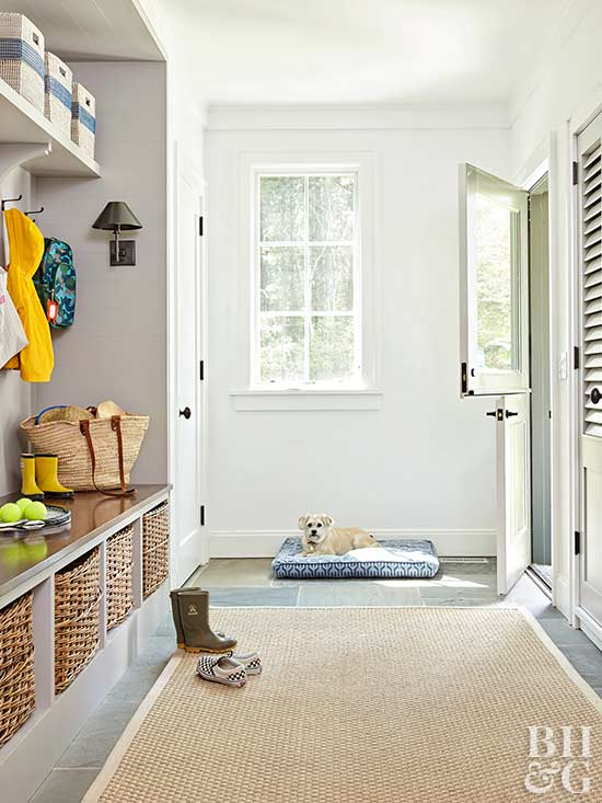 entryway with built-in storage
