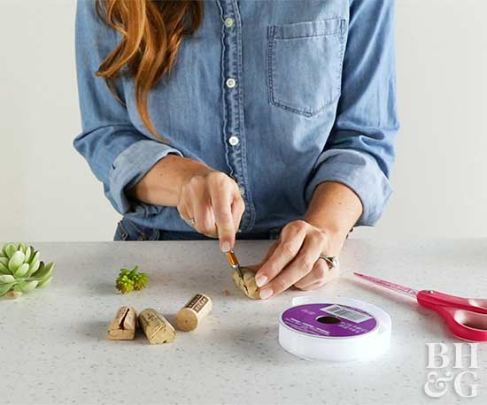 Succulent Napkin Ring how to