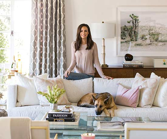 catt sadler in living room