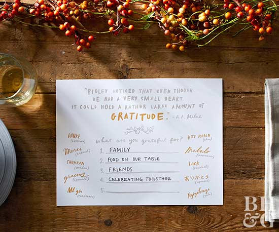 gratitude placemat for thanksgiving