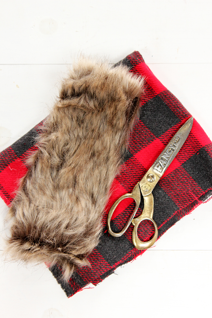 DIY Plaid and Faux Fur Stocking