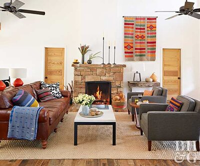 5 Ways to Decorate with Leather Furniture | Better Homes ...