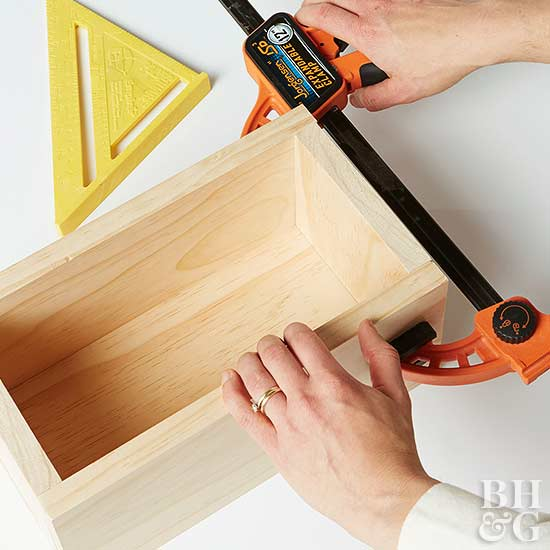 How to Make Storage Boxes clamp