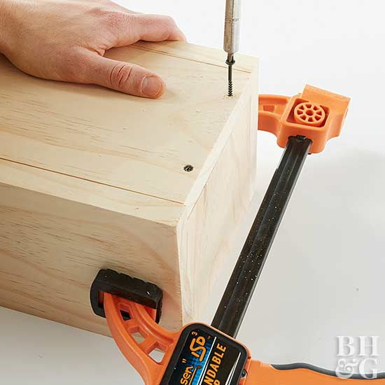 How to Make Storage Boxes clamp and drill