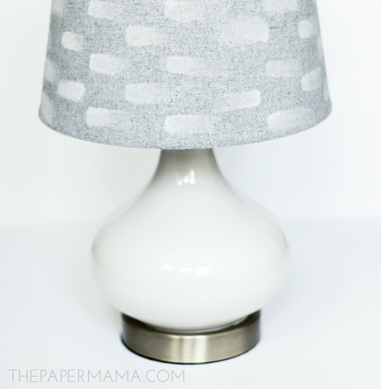 Painting with Bleach Lampshade DIY // thepapermama.com