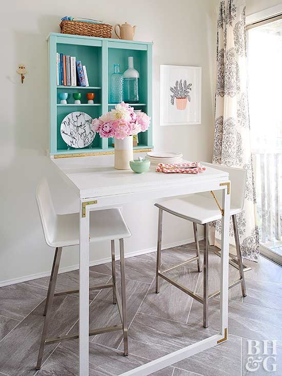 Diy Fold Down Table Better Homes