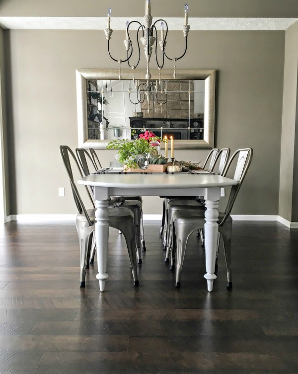 Pergo Flooring Dining Room Transformation View from Living Area by SnazzyLittleThings