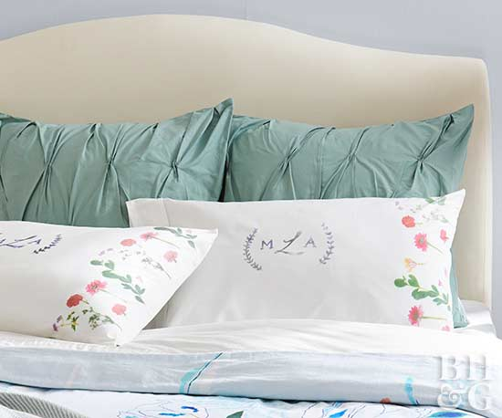 No-Sew Floral Pillowcases