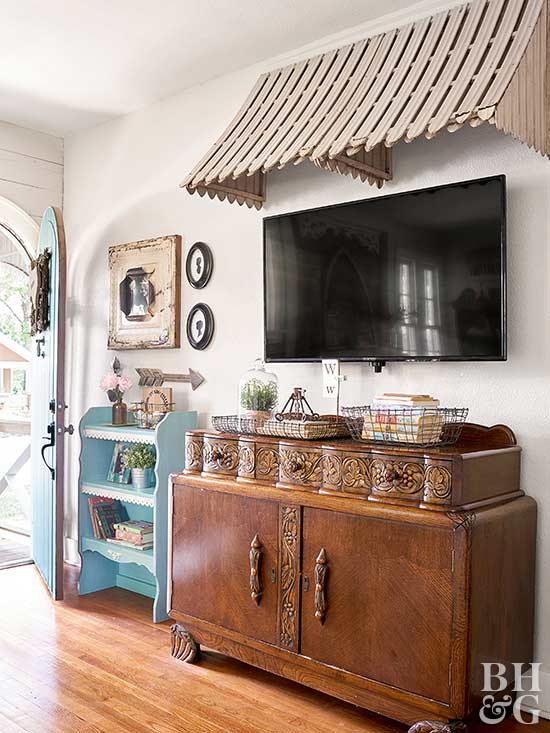 tv with cabinet