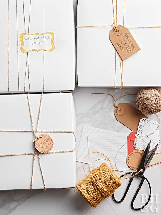 presents wrapped with twine
