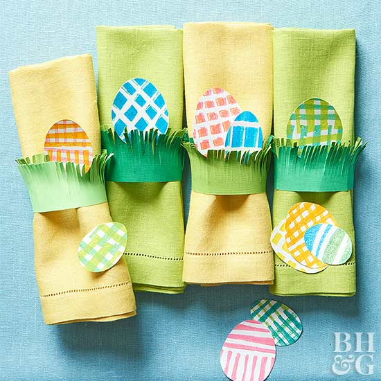 Easter napkin holders