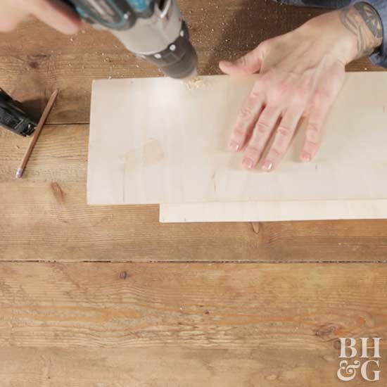 drilling nightstand boards