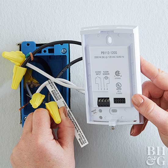 wiring box in wall